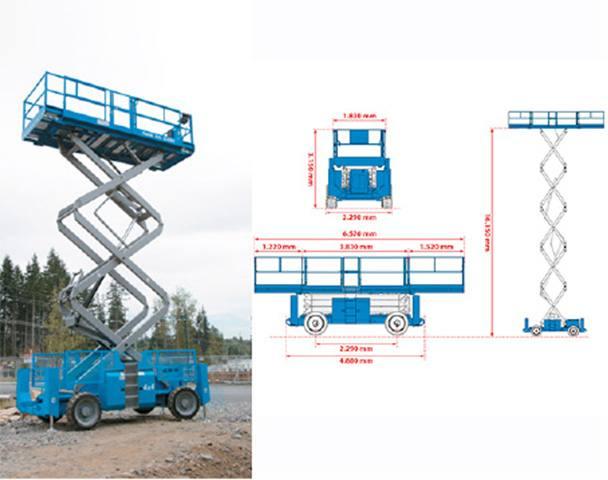 GENIE GS 5390 RT Dizel samohodne teleskopske platforme